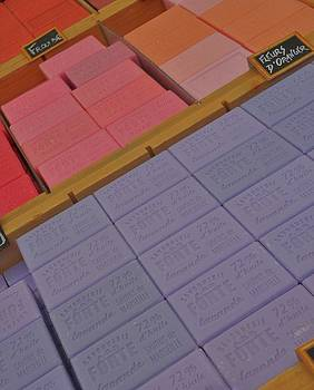 Colorful Bars Soap on Market in Provence by Dany Lison