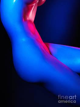 Colorful bodyscape nude woman body by Oleksiy Maksymenko