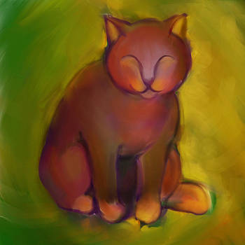 Colorful Cat 2 by Anna Gora