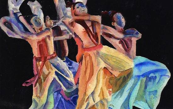 Colorful Dancers by Katherine  Berlin