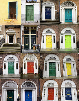 Patricia Hofmeester - Colorful doors collage