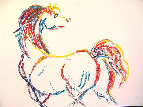 Colorful Horse by Holly Wright
