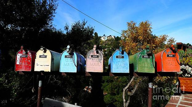Colorful Mailboxes by Nina Prommer