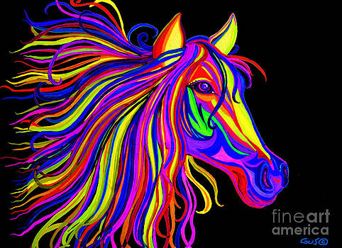Nick Gustafson - Colorful Rainbow Horse Head