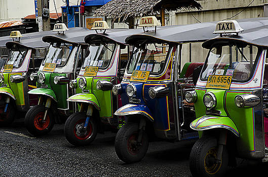 Colorful Tuk Tuks Bangkok by Duane Bigsby