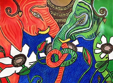 Colourful Elephants by Neha  Shah