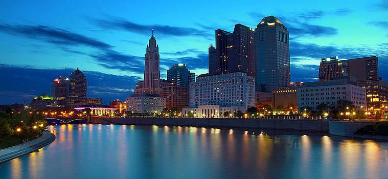 Columbus Ohio Panorama by David Yunker