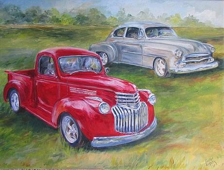 Commissioned Two Old Beauties SOLD by Gloria Turner