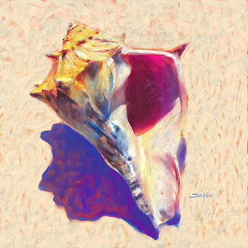 Conch Shell - Seashell Painting  by Savlen Art