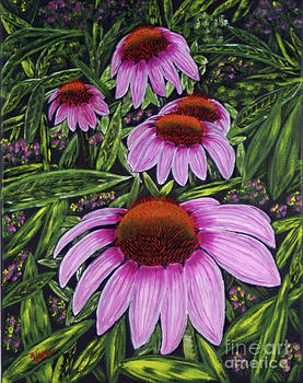 Cone Flowers by Edward C Van Wicklen Sr