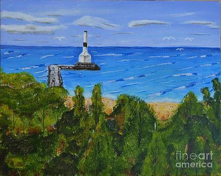 Summer, Conneaut Ohio Lighthouse by Melvin Turner