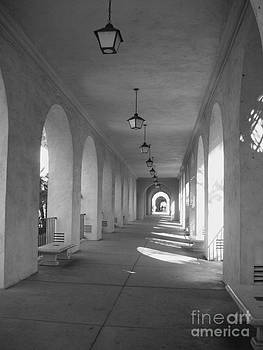 Continuing Arches Black and White by Crystal Miller