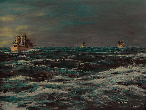 Convoy Morning North Atlantic WWII by William Frew
