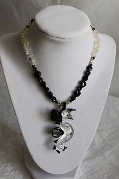 Cookie N Cream Sea Horse Necklace by Amy Gallagher