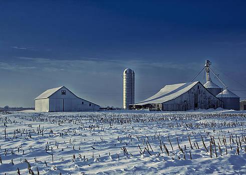 Cool Winter Barn by Michael Huddleston
