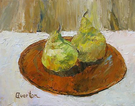 Copper Plated Pears by Lori Quarton