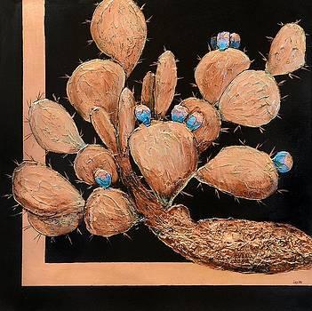 Copper Prickly Pear by JAXINE Cummins
