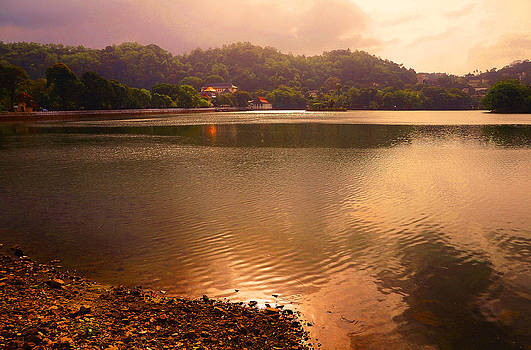 Jenny Rainbow - Copper Waters of Kandy Lake. Kandy. Sri Lanka