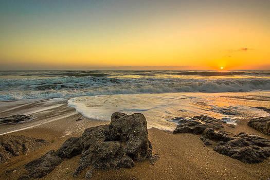 Coquina Rocks Sunrise II by DM Photography- Dan Mongosa
