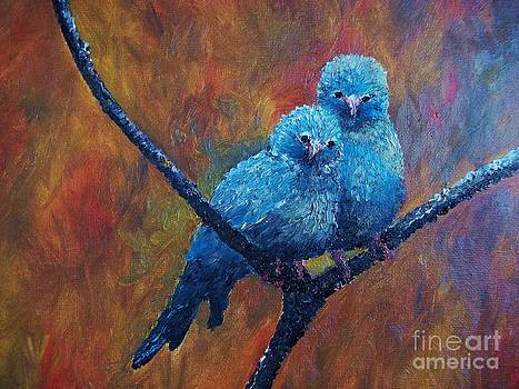 Cordon Bleu Canaries by Rhonda Lee