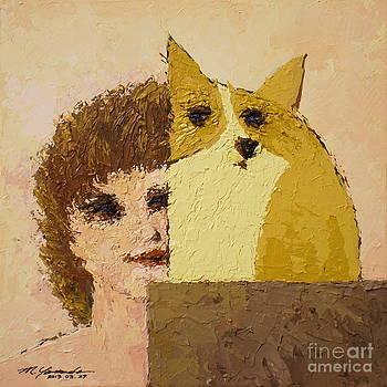 Corgi and Woman v.5 by Max Yamada