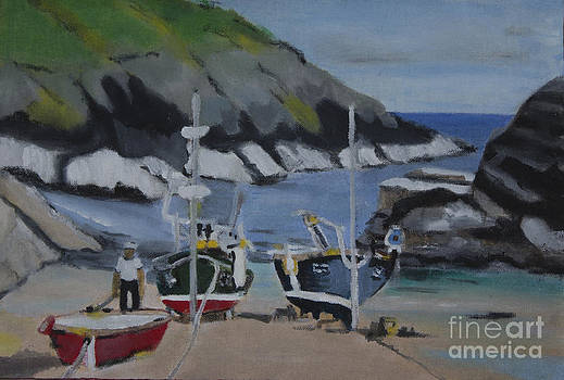 Cornwall Boats by Kate Farrant