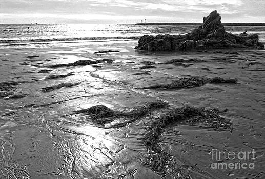 Gregory Dyer - Corona del Mar Coast - black and awhite