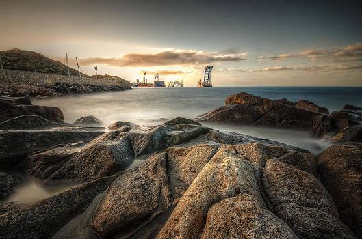 Costa Concordia @ dusk by Tommaso Di Donato