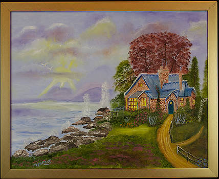 Cottage By The Sea by Margaret Pappas