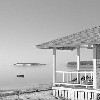 Cottage On The Beach - Black and White Photography by Dapixara Art