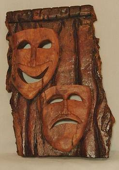 Cottonwood Theater Happy/Sad Masks by Russell Ellingsworth