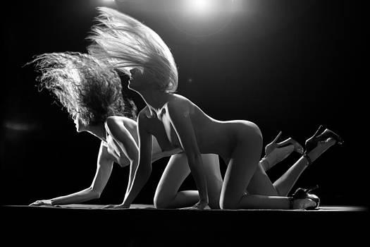 Cougar Crawl BW by Dario Infini