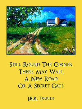 Joyce Geleynse - Country Lane With Tolkien Quote