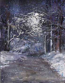 Country Road on a Wintery Night by Jack Skinner
