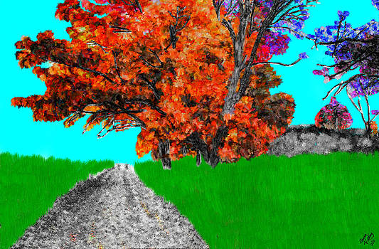 Countryside Drawing by Bruce Nutting