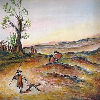 Countryside scene. by Egidio Graziani