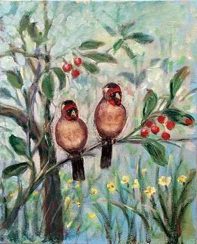 Couple birds by Laila Awad Jamaleldin
