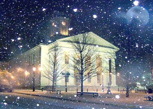 Courthouse in Snow by Mary Vollero