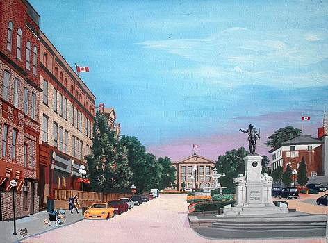 Courthouse Square Brockville Ontario 2009 by John Cullen
