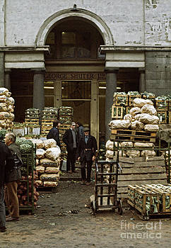 Covent Garden Market London 1973 by David Davies