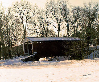 Coverd Bridge in the snow by Timothy Clinch