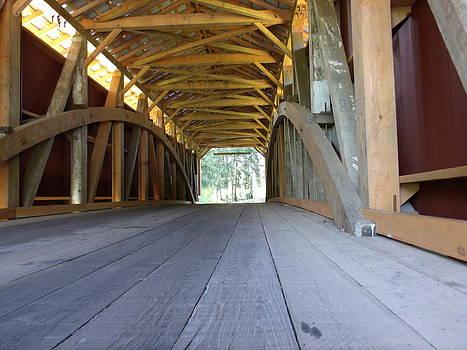 Covered Bridge Detail by Terrilee Walton-Smith