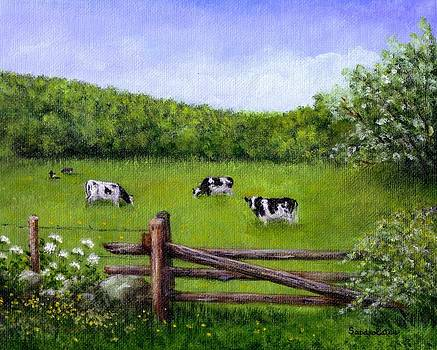 Cows In The Pasture by Sandra Estes