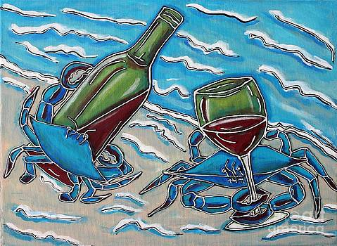 Crab Wine Time by Cynthia Snyder