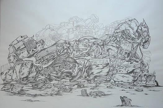 Crash Cars Still Life by Federico  De muro