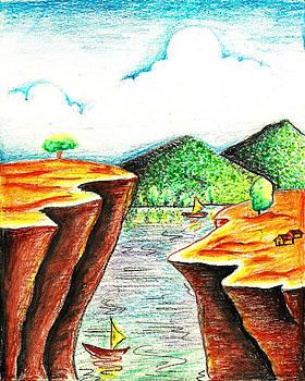 Crayon Landscape by Jak Sundar