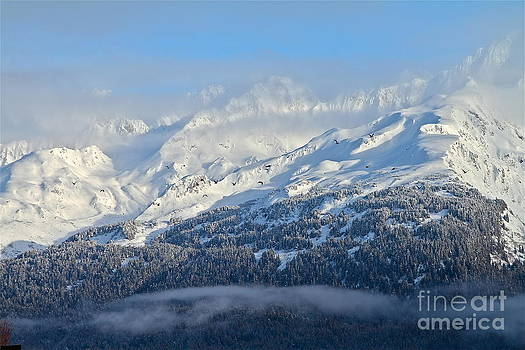 Crazy Winter Mountains by Rick  Monyahan