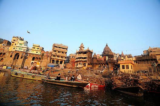 Cremation Ghat of Varanasi by Money Sharma