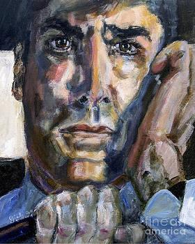 Ginette Fine Art LLC Ginette Callaway - Criminal Minds Aaron Hotchner in 100 Episode Original Portrait
