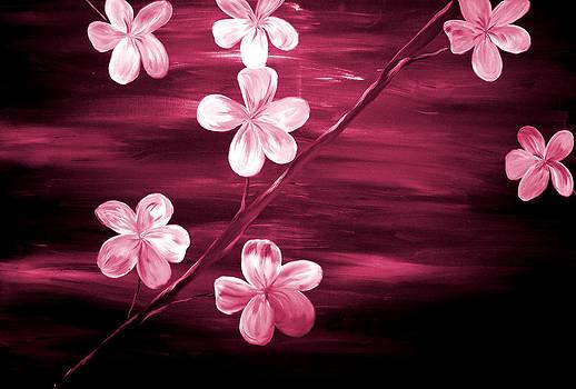 Crimson Cherry Blossom by Mark Moore